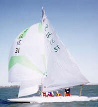 E-Scow sailing dinghy