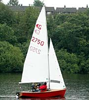 Graduate sailing dinghy
