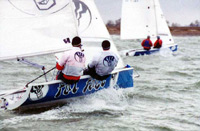 RS400 sailing dinghy