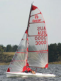 Tasar sailing dinghy