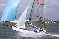 Laser vago sailing dinghy