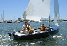 Lido14 sailing dinghy