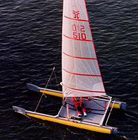 Catapult catamaran