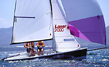 Laser 2000 sailing dinghy