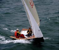 National 12 sailing dinghy