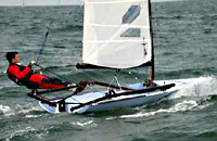 RS600 sailing dinghy
