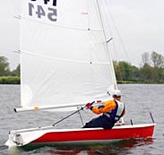 Supernova sailing dinghy